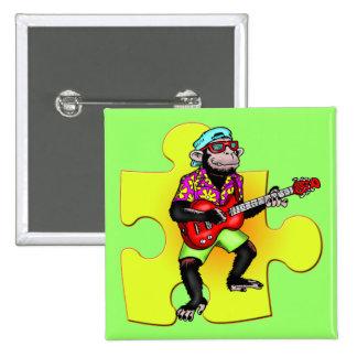 Monkey Musician Buttons