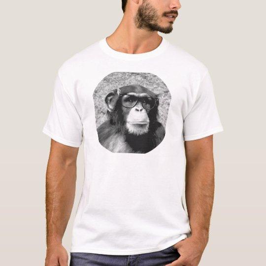 Monkey nerd Glasses Evolution T-Shirt