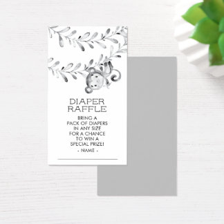 Monkey Neutral Baby Shower Diaper Raffle Ticket