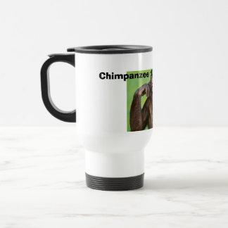 Monkey news! stainless steel travel mug