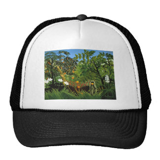 Monkey of foreign scenery primenal forest mesh hat