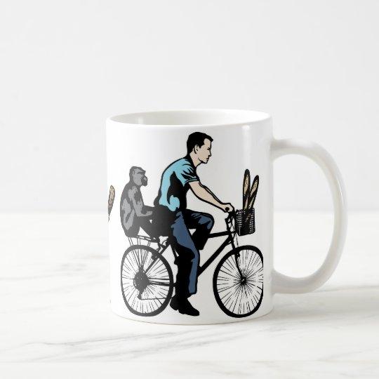 Monkey On Bike Coffee Mug
