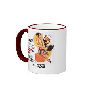 Monkey on her back ringer mug