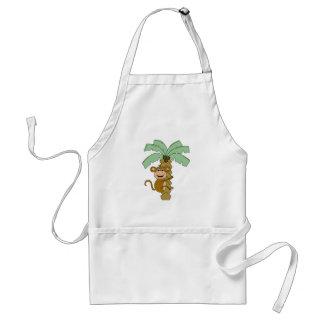 monkey on palm tree standard apron