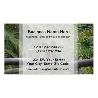 monkey on railing sad primate business card templates