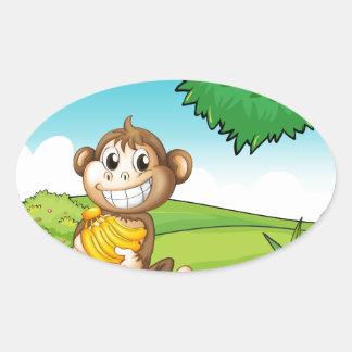 Monkey Oval Sticker