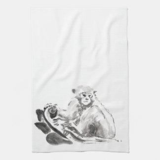 Monkey Painting Chinese New Year 2016 KitchenTowel Tea Towel