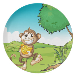 Monkey Party Plate