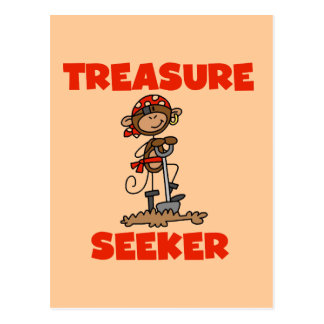 Monkey Pirate Treasure Seeker Tshirts and Gifts Postcards
