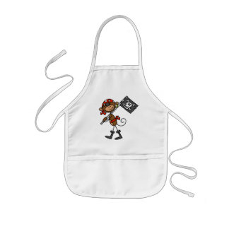 Monkey Pirate With Flag Tshirts and Gifts Kids Apron