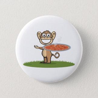 Monkey Pizza 6 Cm Round Badge