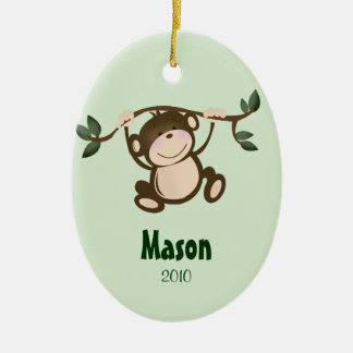 MONKEY PLAY Personalized Christmas Ornament
