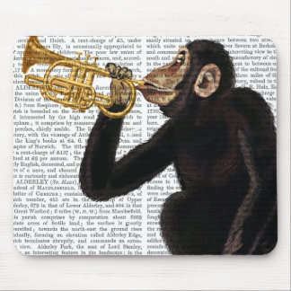 Monkey Playing Trumpet 2 Mouse Mat