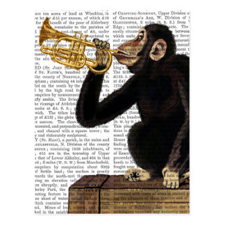 Monkey Playing Trumpet 2 Postcard