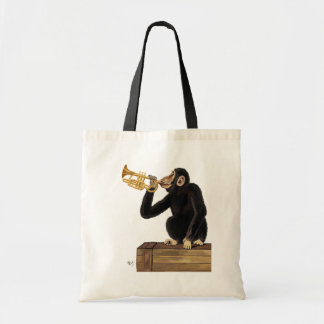 Monkey Playing Trumpet 2 Tote Bag