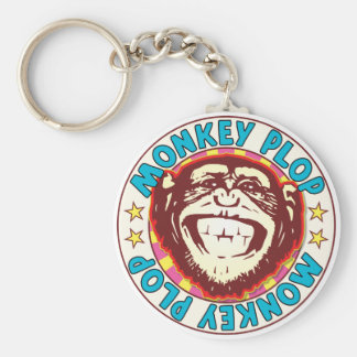 Monkey Plop Key Ring