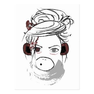 monkey. postcard