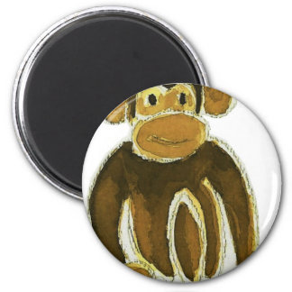 Monkey Prince 6 Cm Round Magnet