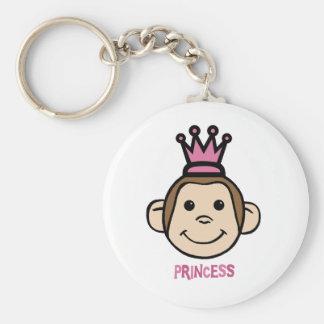 Monkey Princes Basic Round Button Key Ring