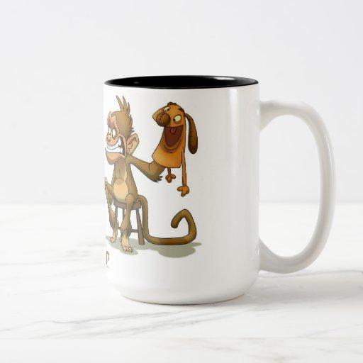 Monkey Puppet Show Mug