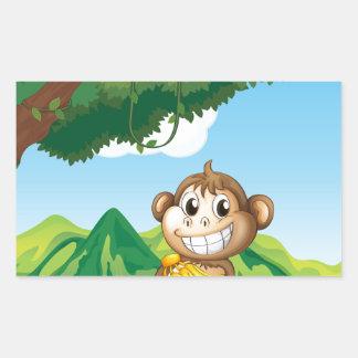 Monkey Rectangular Sticker