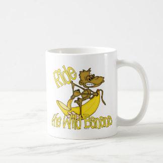 monkey-ridebanana basic white mug
