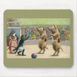 Monkey Ringmaster and Circus Pigs Mousepad