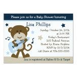 Monkey Rocker Rockstar Baby Shower Invitation