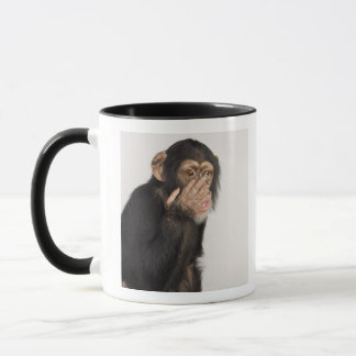 Monkey rubbing its face mug