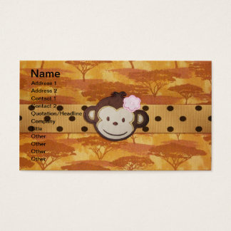 Monkey Safari Business Card