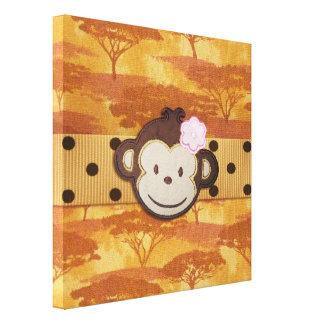 Monkey Safari Gallery Wrap Canvas