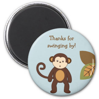 Monkey Safari Jungle Party Favor Magnets
