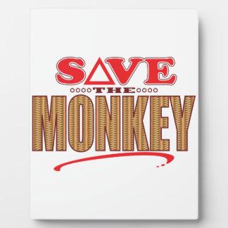 Monkey Save Plaque