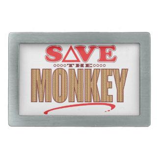 Monkey Save Rectangular Belt Buckle