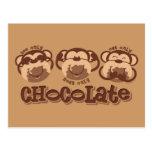 Monkey See Chocolate Post Card