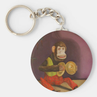 Monkey See Monkey Do Basic Round Button Key Ring