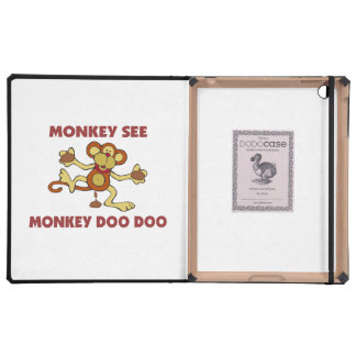 Monkey See Monkey Doo Doo iPad Covers
