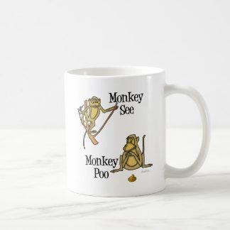 Monkey See Monkey Poo Basic White Mug