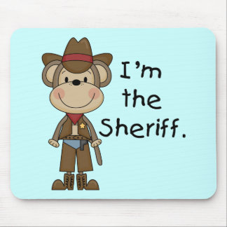 Monkey Sheriff T-shirts and Gifts Mouse Pad