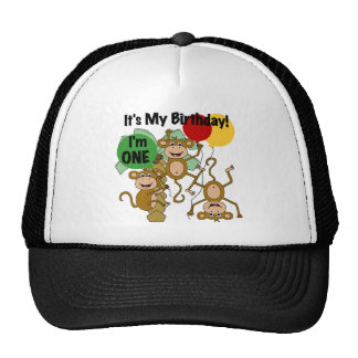 Monkey Shine 1st Birthday T-shirts and Gifts Cap