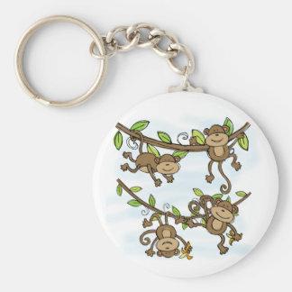 Monkey Shine Basic Round Button Key Ring