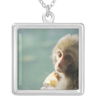 Monkey Silver Plated Necklace