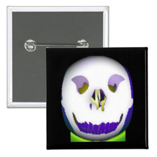Monkey Skull Pinback Buttons