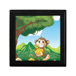 Monkey Small Square Gift Box