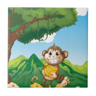 Monkey Small Square Tile
