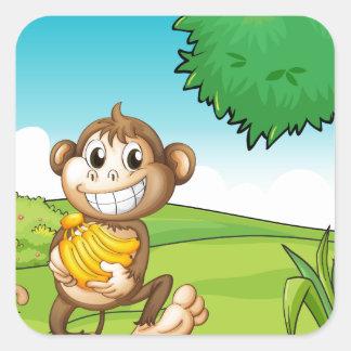 Monkey Square Sticker