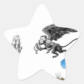 Monkey Star Sticker