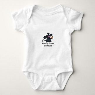 Monkey Steals the Peach Baby Bodysuit