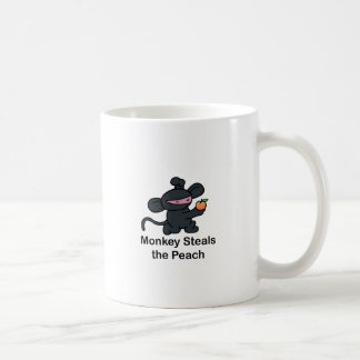 Monkey Steals the Peach Basic White Mug
