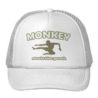 Monkey Steals the Peach Trucker Hat